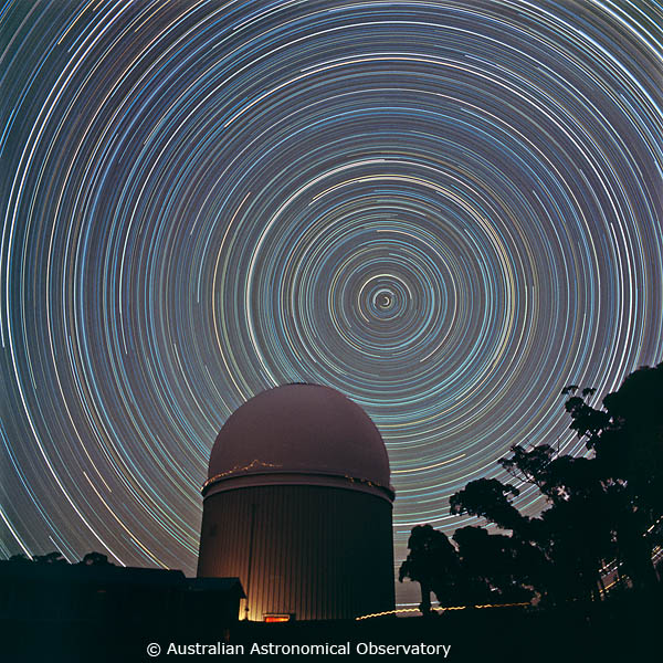AAT 6. Star trails around the south celestial pole
